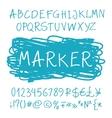Roman marker pen alphabet vector image