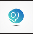 round symbol letter q design minimalist vector image vector image