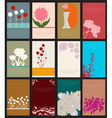 set of 12 floral cards vector image vector image