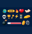 set of game icon vector image