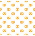 soft pretzel pattern seamless vector image vector image