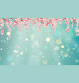 spring blossom background vector image vector image