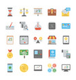 startup and new business flat icons vector image vector image