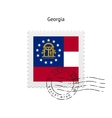 State of Georgia flag postage stamp vector image vector image