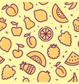 stylized background of fruit icons vector image vector image