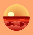 sultry heat hot sunset sunset vacation vector image vector image