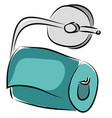 toilet paper holder with blue paper roll on white vector image