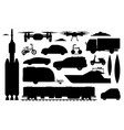 transport vehicles set different transport vector image vector image