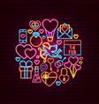 valentine day neon concept vector image