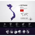 vietnam map vector image