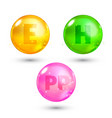 vitamin high quality gold oil capsule vector image vector image