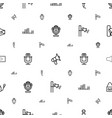 voice icons pattern seamless white background vector image vector image