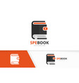 wallet and book logo combination purse and vector image vector image