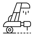 wheat collector equipment icon outline style vector image