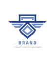 wings and shield concept logo design delivery vector image