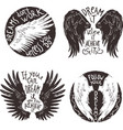 Wings Label Set vector image vector image