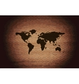 World map web icon flat design vector image vector image