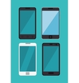 set differents smartphone digital technology vector image