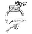 Business Idea concept doodles icons set sketch vector image
