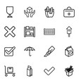16 box icons vector image vector image