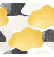 abstract seamless background with gold and black vector image vector image