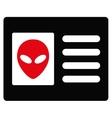 Alien Account Card Flat Icon vector image vector image
