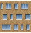 Brick facade pattern 2 color vector image vector image