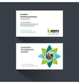 business card template with geometric vector image vector image