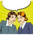 cartoon pop art comic business women having a vector image vector image