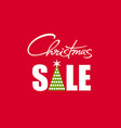 christmas sale poster with handwritten lettering vector image vector image
