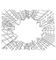 city in a circle frame sketch vector image vector image