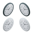 Clock isometric clock design concept vector image vector image