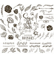 collection design elements for wedding vector image