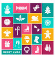 collection of symbols of new year and christmas vector image