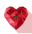 crystal gem Moroccan heart with the flag of the vector image
