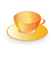 cup for coffee in orange color vector image vector image