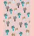 cute hand drawn palms pattern vector image vector image