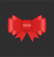 decorative red bow with ribbon vector image vector image