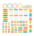 design elements for website template for vector image vector image
