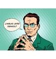 Do you speak Spanish translator language course vector image