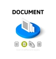 Document icon in different style vector image vector image
