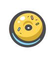 donut with glaze icon cartoon vector image