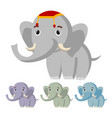 elephant cute african animal circus vector image