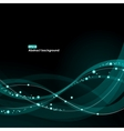 EPS10 glowing waves background vector image vector image