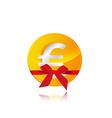 euro coin gift vector image vector image