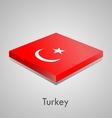 European flags set - Turkey vector image