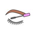eyelash mascara color icon vector image vector image