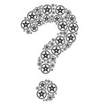 faq shape of star pentacle icons vector image vector image
