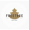 Fir Tree Hand Drawn Logo Template Design vector image vector image