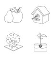 garden farming nature and other web icon in vector image vector image